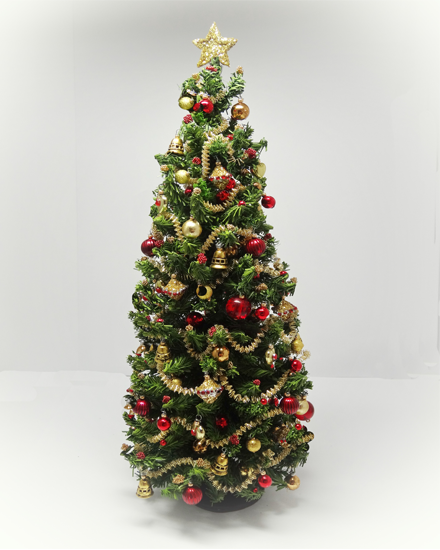 "9.5 ""One of a Kind Luxury handmade and dressed Christmas Tree"